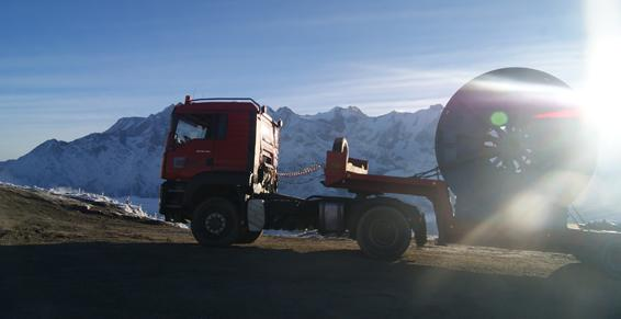 transport routier en montagne
