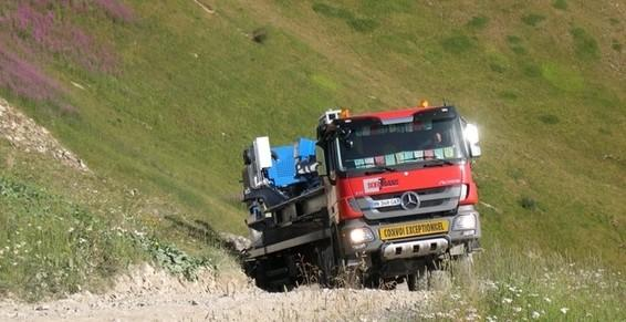 transport routier route difficile